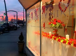 Sunset in Oceanside, as seen from our local storefront